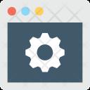 Web Setting Cog Icon