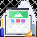 Web Wireframe Website Mockup Web Template Icon