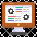 Web Settings Code Optimization Web Design Icon