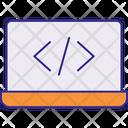 Coding Laptop Web Design Icon