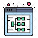 Web Diagram Web Sitemap Web Hierarchy Icon