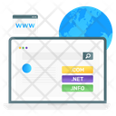 Domain Searching Www World Wide Web Icon