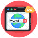 Web Domain Web Browser Web Search Icon