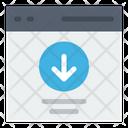 Web Download Icon