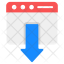 Web Downloading Icon