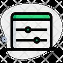 Web Equalizer Web Adjustment Web Preferences Icon