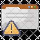 Web Error Web Alert Web Warning Icon