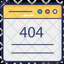 Web Error 404 Error Website Error Icon