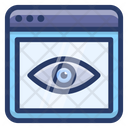 Web Eye Web Visualization Web Visibility Icon
