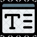 Web Font Text Web Font Web Text Icon