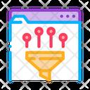 Filtering Data Development Icon