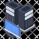 Web Hosting Datacenter Data Bank Icon