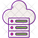 Web Hosting Cloud Server Cloud Database Icon