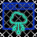 Iwebsite Database Web Hosting Web Cloud Networking Icon