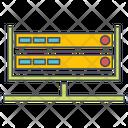 Web Hosting Database Web Server Icon
