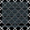 Web Hosting Server Database Icon