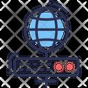 Web Hosting Web Icon Global Icon