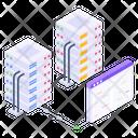 Data Server Hosting Web Hosting Server Hosting Icon