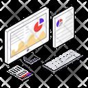 Web Infographics Data Representation Website Analytics Icon