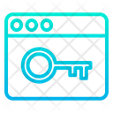Web Key Icon