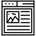 Web Landscape Icon