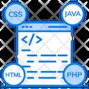 Web Language Web Coding Web Config Icon
