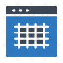 Grid Layout Webpage Icon