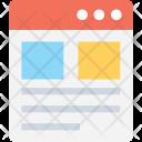 Web Layout Wireframe Icon