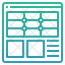Web Layout Web Template Wireframe Icon