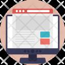 Web Layout Design Icon