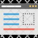 Web Layout Website Icon