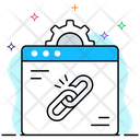 Web Link Hyperlink Linked Website Icon