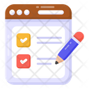 Todo List Checklist Web List Icon