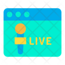 Online News Live News Webpage Icon