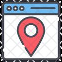 Web Location Gps Location Map Icon