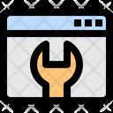 Web Maintenance Seo Cog Icon