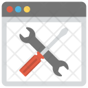 Website Maintenance Tools Icon