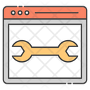 Web Maintenance Vector Icon