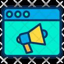 Online Marketing Online Business Marketing Web Advertising Icon