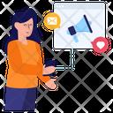 Social Promotion Web Marketing Online Marketing Icon
