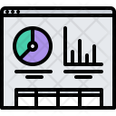 Web Metrics Graph Icon