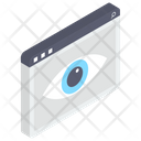 Web Monitoring Cyber Eye Web View Icon