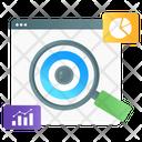 Data Monitoring Web Monitoring Web Surveillance Icon