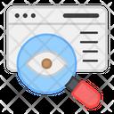 Web Monitoring Web Eye Search Eye Icon