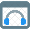 Web Music Music Website Listening Music Icon
