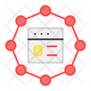 Web Network Web Connection Web Structure Icon