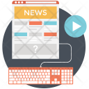 Web News Reading Icon