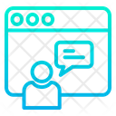 Online Chat Chat Bubble Webpage Icon