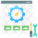 Web Speed Web Optimization Web Dashboard Icon