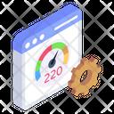 Website Performance Web Optimization Web Speed Icon